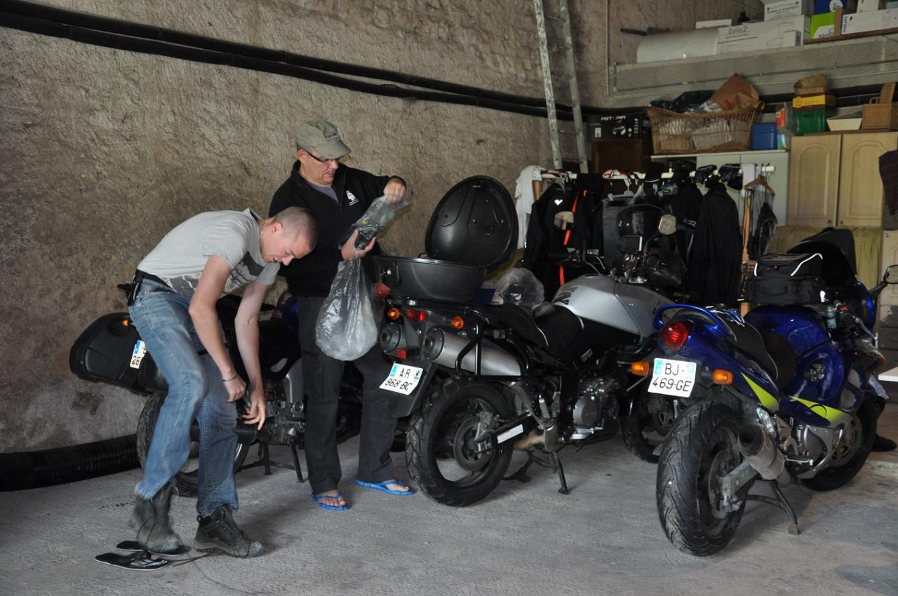 des motos en sûreté